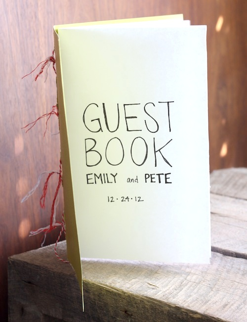 Wedding Guest Book Cover Diy : How to make a custom wedding guestbook merrypad