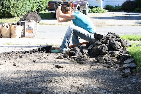 How to remove asphalt by hand (warning: not easy, but possible!)