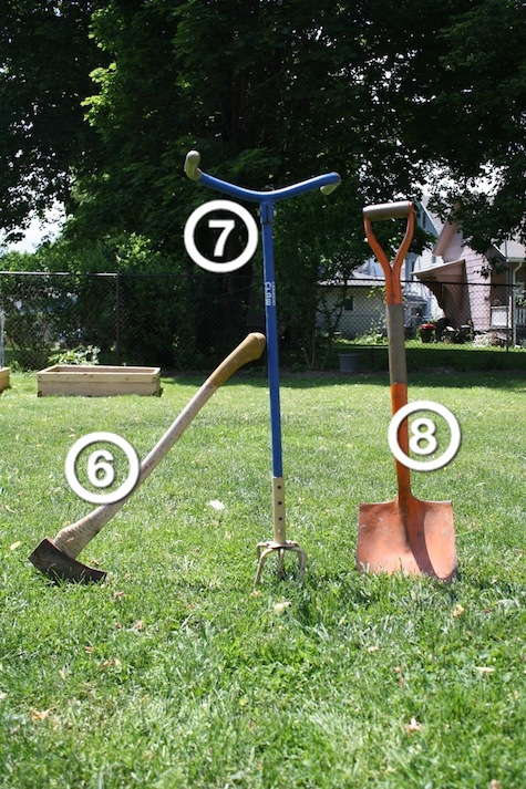 What garden tools to look for at yard sales.