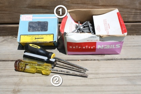What tools to look for at yard sales.
