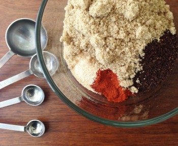 Ingredients for a DIY Coffee Rub