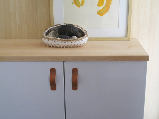 How to make a maple countertop for a wall shelf system.