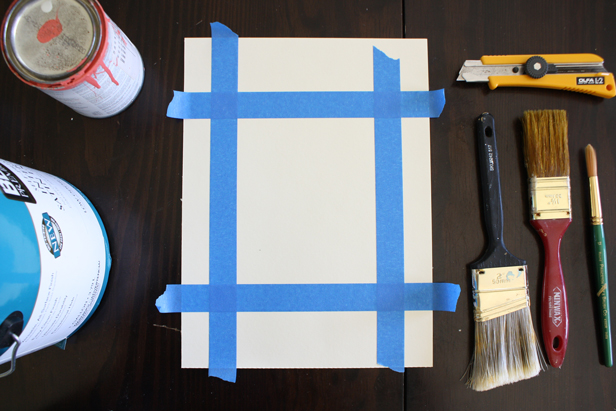 Use leftover wall paint to make coordinating decor.