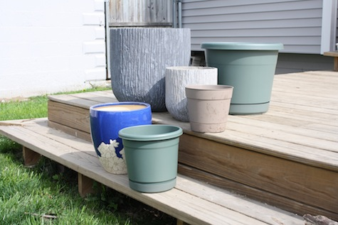 Choose planters and liners for your patio garden.