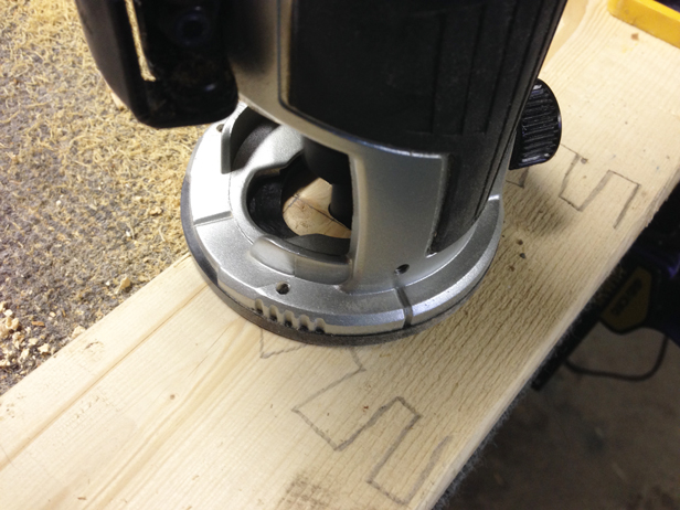 How to carve a DIY wood block stamp using a router.