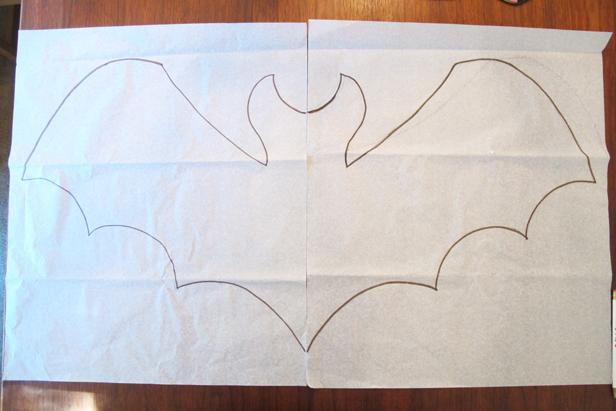 Make a template for a DIY bat-shaped pillow.