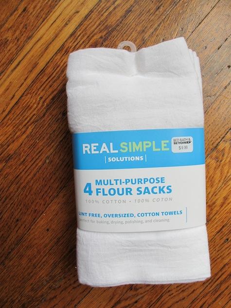 Using flour sacks to make custom bathroom hand towels.