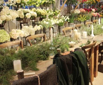 DIY lush pine runner for a holiday table or rustic wedding.