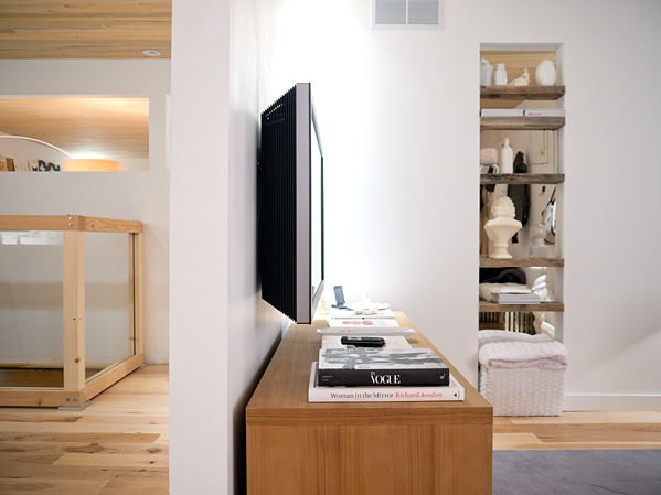 Flush mount TV inspiration from DIY Network.
