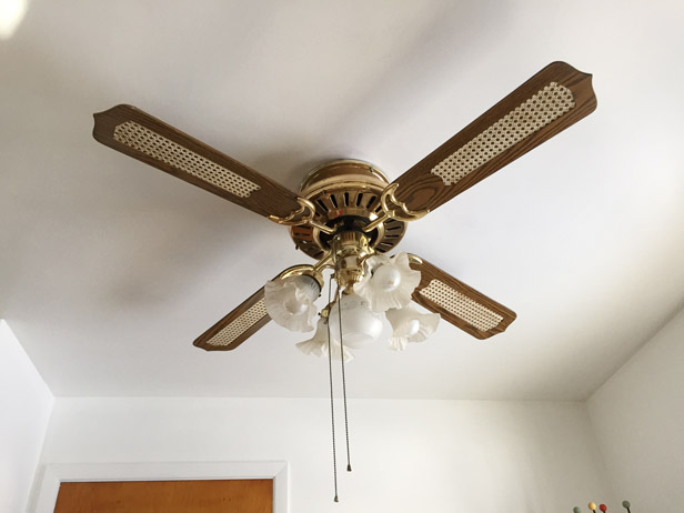 The ugliest kitchen fan ever, and how we replaced it.