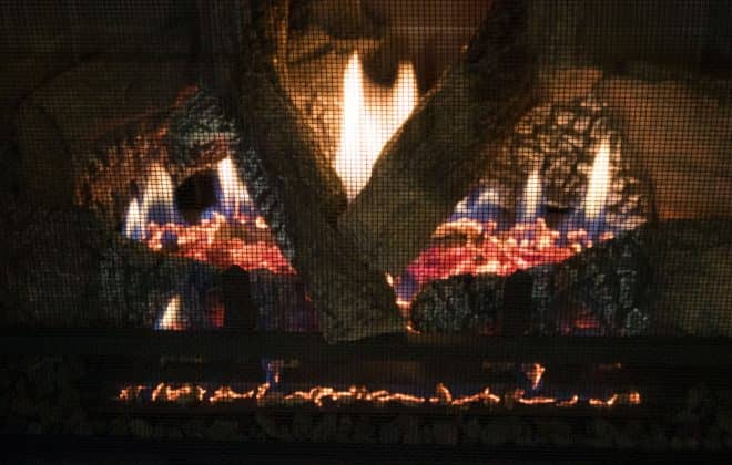 A new gas fireplace insert from Heat & Glo with very realistic looking embers and flames.
