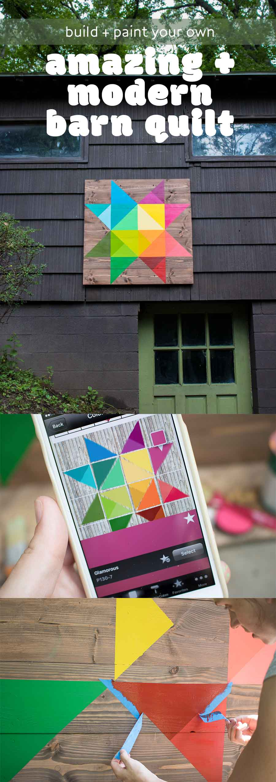 How to build and paint a modern barn quilt as a nod to traditional outdoor decor.