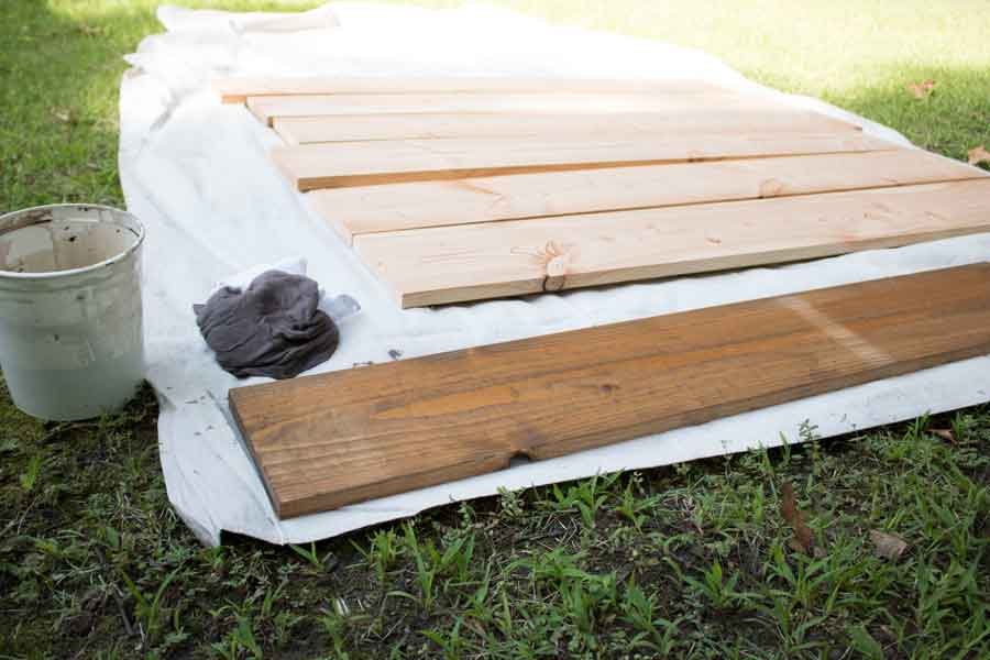 Wooden boards sourced locally from Buffalo, NY to be used in a handmade barn quilt.