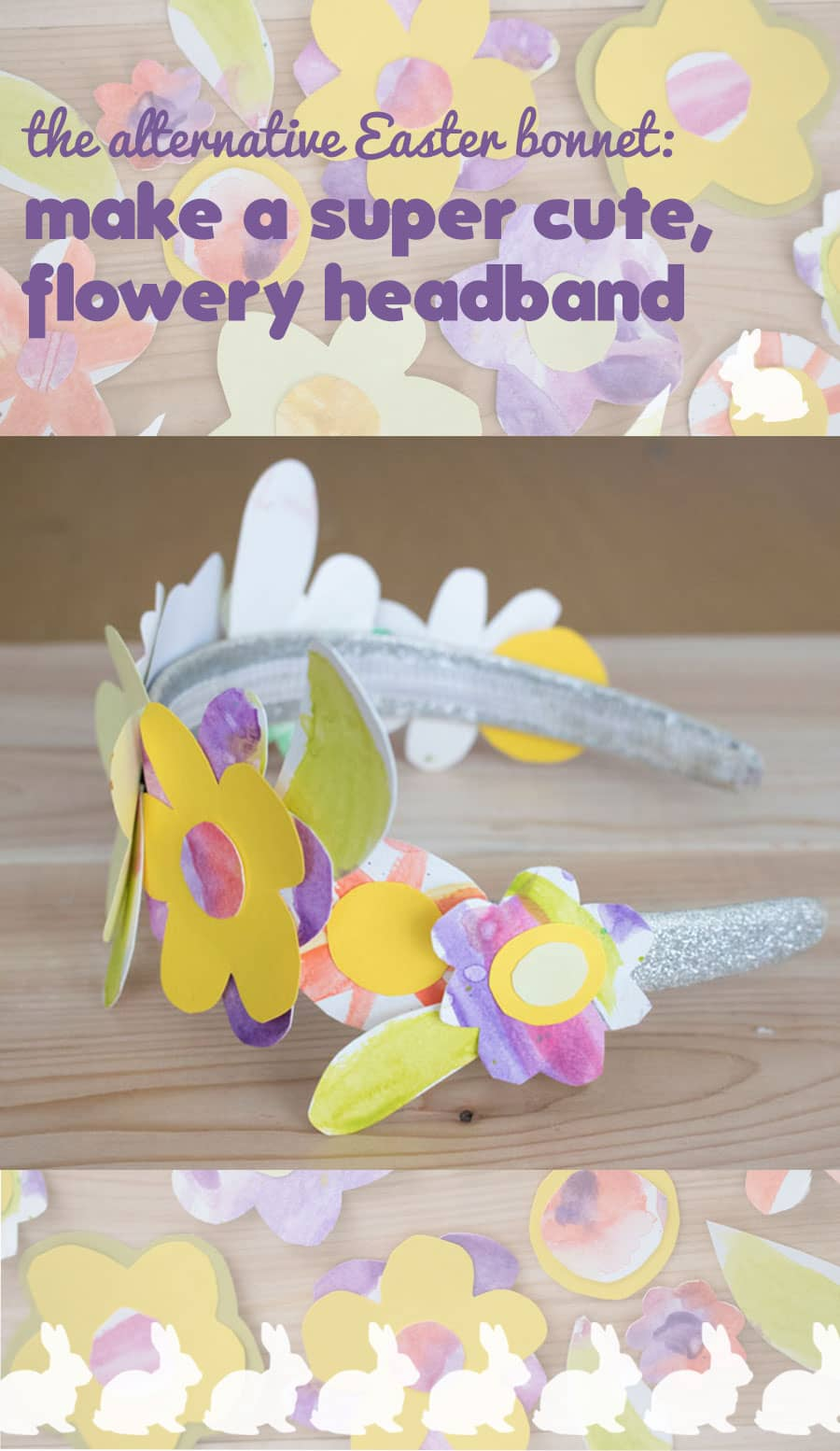 How to make an alternative Easter bonnet: Make this cute, flowery headband.