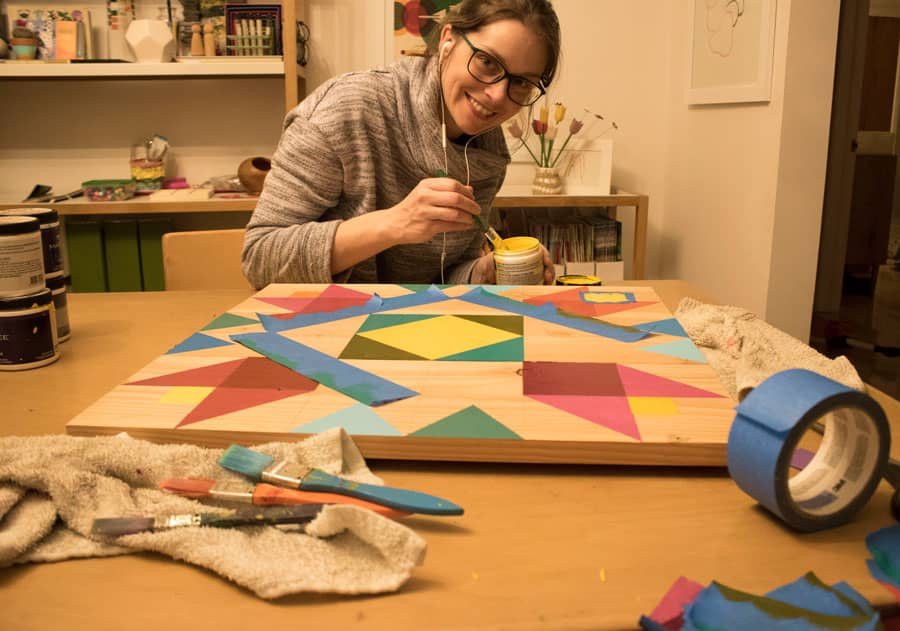 How to design and make a barn quilt.